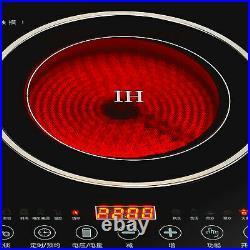 110V Electric Countertop/Built in Induction Ceramic Cooker Cooktop 2Burner 2600W