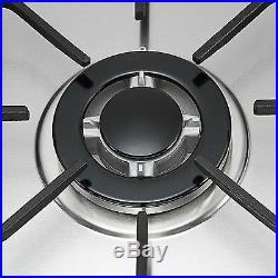 110V Top Brand 30COOKTOP Steel Built-in 5 Burners LPG/NG Gas Hob Stove Cooktop