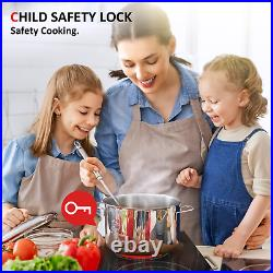12 Electric Cooktop Ceramic Stove 2 Burners Built-in Touch Control Child Lock