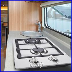 12 Gas Cooktop 2 Burners Drop-in Propane/natural Gas Cooker Gas Stove