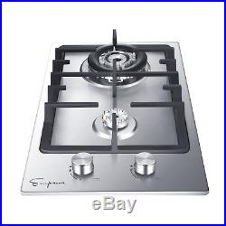 12 Stainless Steel Italy Sabaf Burners Stovetop Gas Cooktop