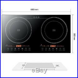2.4KW Electric Dual Induction Cooker Cooktop 2400W Countertop Double Burner USA
