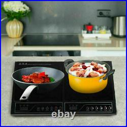 2000W 110V Electric Double Induction Cooktop Touchpad Home Induction Cooker