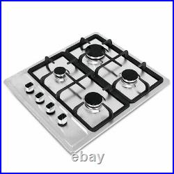 23.2 4 Burners Built-In Stove Top Gas Cooktop Kitchen Easy to Clean Gas Cooking
