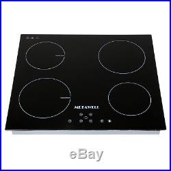 23.5'' Black Ceramic Induction Hob 4 Burners Stove Cooktop 240V Household Cooker