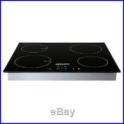 23.5'' Electric Induction Cooker 4 Burner Digital Plate Cooktops Countertop 240V