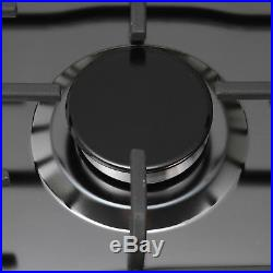 23 Black Titanium Stainless Steel 4 Burners Built-In Stove Natural Gas Cooktop