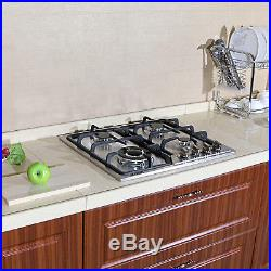 23inch Built in 4 Burners Stainless Steel Silver Cooktops NG/LPG Gas Hob Cooktop