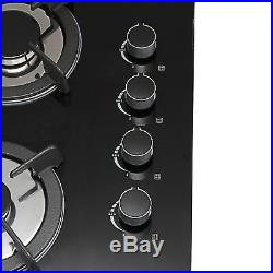 24 Branded Tempered Glass 4 Burners Kitchen Stove LPG/NG Gas Hob Cooktop Cook