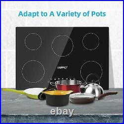 24 Electric Cooktop 4 Burners Induction Cooktop Vertical Vitro Ceramic Black