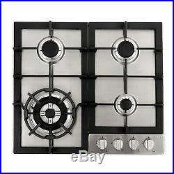 24 Inch Gas Cooktop 4 Sealed Burners, Metal Knobs, Stainless Steel (open Box)