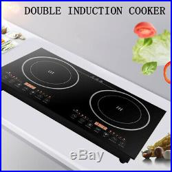 2400W Electric Dual Induction Cooker Portable Burner Cooktop Digital Hot Plate