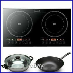 2400W Portable Induction Cooktop Countertop 2/Dual Cooker Burner Stove Hot Plate