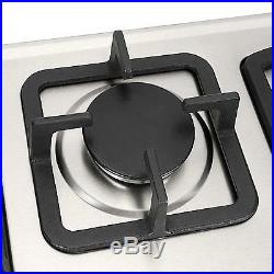 28in. 3 Burners Built-In Stove Top Gas Cooktop Kitchen Easy to Clean Gas Cooking