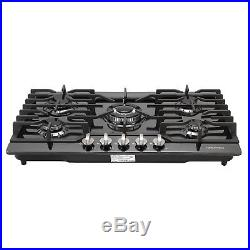 30 Black Titanium 5 Burner Built-in Stoves LPG Natural Gas Cook Tops Cooker, US