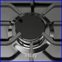 30 Built-in Cooktop Stove LPG/NG Gas Hob with5 Burners Countertop Black Titanium