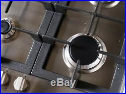 30 In. Gas Cooktop (open Box) With 5 Burners, Metal Knobs (stainless Steel)
