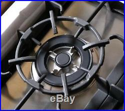 30 Inch Gas Cooktop 5 Burner, Metal Knobs, Stainless Steel (open Box)