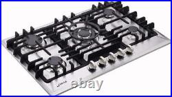 30 Inch Gas Cooktop, Sealed 5 Burners Gas Cooktop, Stainless Steel Gas Cooktop