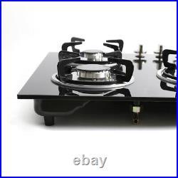 30 LPG/NG Gas Hob COOKTOP Built-in 5 Burner Stove Hob Cooker Top tempered glass
