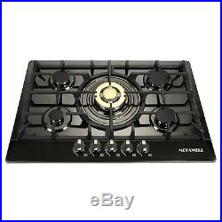 30 Stainless Steel 5 Burners Built-In Stove Cooktop Gas NG/LPG Hob Cooker-US