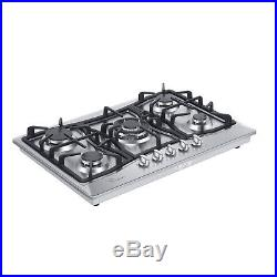 30 Tempered Glass / Stainless Steel Gas Stove Cooktop