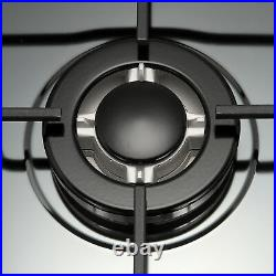 30 Titanium Stainless Steel 5 Burners Cooktop Built In Stove LPG NG Gas Hob-US