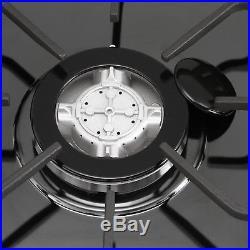 30 inch 5 Burner Black Titanium Built-in Stoves LPG Natural Gas Cooktops Cooker