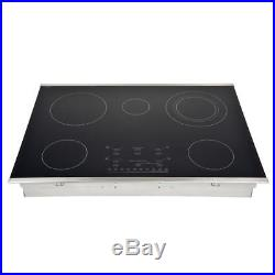 30-inch Stainless Steel Smooth-top Flex-power 5-element Electric Cooktop
