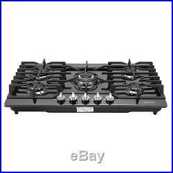 30inch Black Titanium 5 Burner Built-in Stoves LPG/NG Gas Hob Cooking Cooktops