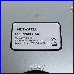 31.5 Induction Hob 4 Burner Stove Cooktops LED Glass Plate Electric Cooker 240V