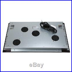 31.5 inch Induction Hob 4 Burner Stove Cooktops Black Glass Home Electric Cooker