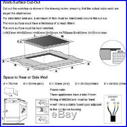 31.5inch Induction Hob 4 Burner IH Cooktops Black Glass Built in Electric Cooker
