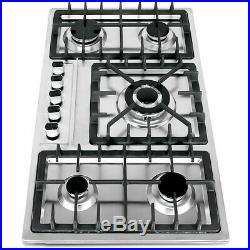 33.8 Stainless Steel Built-In 5 Burners Cooktop Natural Gas Hob Cooker