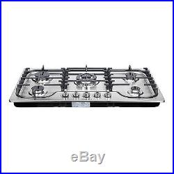34 Fashion Lines Stainless Steel 5 Burner Built-In Stoves Gas Cooktops Cooker