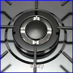 34 NG/LPG Cooktop Black Titanium Steel 5 Burners Gas Stoves Hob Cooktop USA