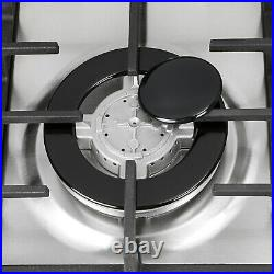 34 Stainless Steel 6 Burner Built-In Stove NG/LPG Gas Hob Cooktop Cooker USA