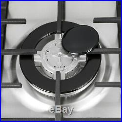 34 Stainless Steel Built-In 6 Burners Cooktop Stove NG LPG Hob Cooker, Top Brand