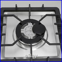 34 Stainless Steel Frame 5 Burners Stove NG/LPG Built-in Gas Cooktops Cooker