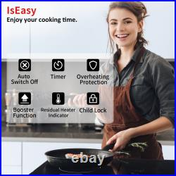 3400W Built-in Induction Cooktop Countertop Dual Cooker Burner Stove Child Lock