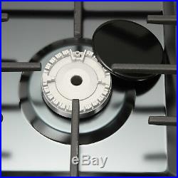 34Titanium Stainless Steel Built-in Stove NG/LPG Gas Stoves Hob Fixed Cook Tops