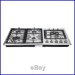 34in. Gas Cooktop 5 Burner Built-In Stainless Steel NG/LPG Cook Tops Stove -USA