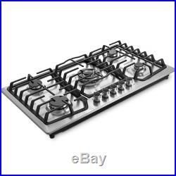 36 5 Burners Built-In Stove Top Gas Cooktop Precise VEVOR Kitchen PROFESSIONAL