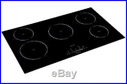 36 Electric Induction Cooktop With 5 Booster Burners