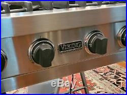 36 Viking Pro Rangetop / Cooktop / Stovetop SS VGRT360-6bSS