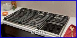36 WOLF TRANSITIONAL GAS COOKTOP WITH 5 DUAL STACKED BURNERS Model # CG365TS