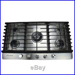 36 in. Gas Cooktop in Stainless Steel with 5 Burners Including a Tri-Ring Power