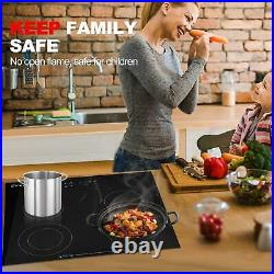 4 Burner Electric Cooktop Stove Touch Control Built In Electric Ceramic Hob US
