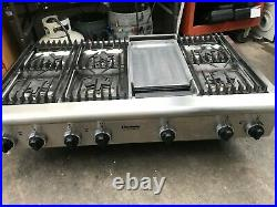 48 Thermador Stainless GAs Range top, 6 + griddle in LA