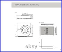 78cm Designer Induction Hob with Downdraft Airforce Aspira Centrale 78 B2 Octa
